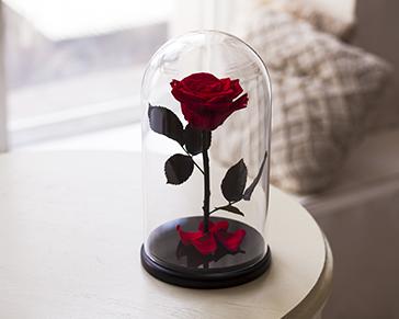 Роза из стекла своими руками